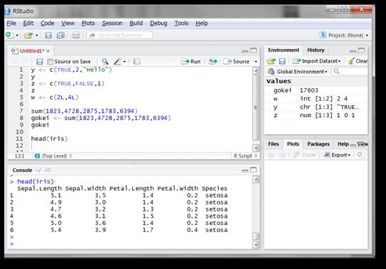 Rにデフォルトで用意されているデータフレーム構造のデータの一つに、「iris」というものがあります